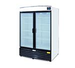 Metalfrio REB-43 2-Section Upright Cooler w/ 2-Glass Doors & 8-Shelves, 42.5-cu ft