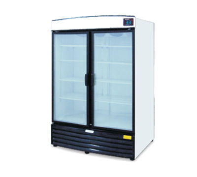 Metalfrio REB-43 2-Section Upright Cooler w/ 2-Glass Doors & 8-Shelves, 42.5-cu ft