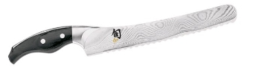 Shun DM0505 Bread Knife w/ 9-in Non Stick Blade & Ergonomic Pakkawood Handle