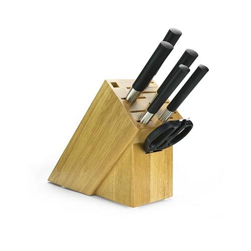 Shun WBS0700 Wasabi Black 7 Piece Knife Set w/ Storage Block