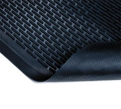 NoTrax 65587 Ridge Scraper Entrance & C-Store Floor Mat, 3 x 5 ft, 1/4 in Thick, Black