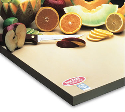 NoTrax 147-538 14-in Cutting Board, 1-in Thick, Anti-Microbial Rubber Compound