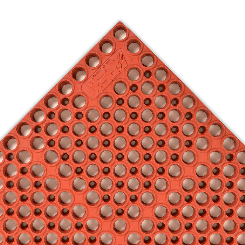 NoTrax 182766 San-Eze II Grease-Proof Floor Mat, 39 x 58-1/2 in, 7/8 in Thick, Red