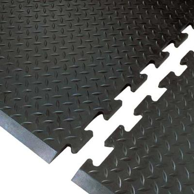 NoTrax 354571 Footsaver Solid Surface Rubber Mat, Beveled Edge, 28 x 31 in, Interlocking