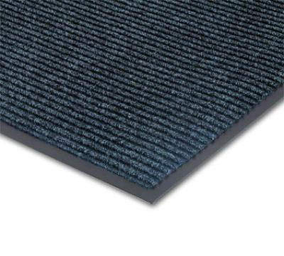 NoTrax 4457-902 Bristol Ridge Scraper Floor Mat, 3 x 5 ft, 1 in Vinyl Border, Slate Blue