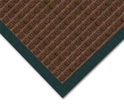 NoTrax 4468478 Water Master Carpet, 4 x 6 ft, Rubber Base, Stain / Fade Resistant, Dark Brown