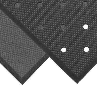 NoTrax T17P0034BL Superfoam Comfort Floor Mat, 3 x 4 ft, 5/8 in Thick, Perforated