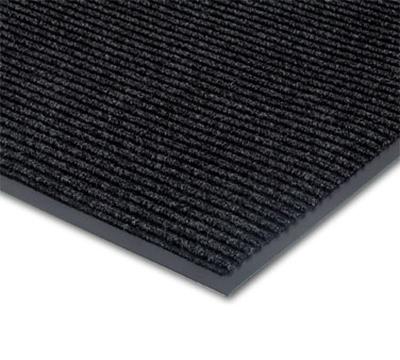 NoTrax 0434-348 Floor Mat, Polypropylene, Ribbed Vinyl Back, Fade-Resistant, 3 x 5-ft, Midnight