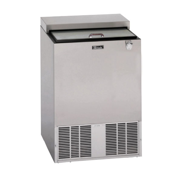"Perlick BC24 24"" Forced Air 132-Capacity Bottle Cooler - Stainless Interior, 115v"