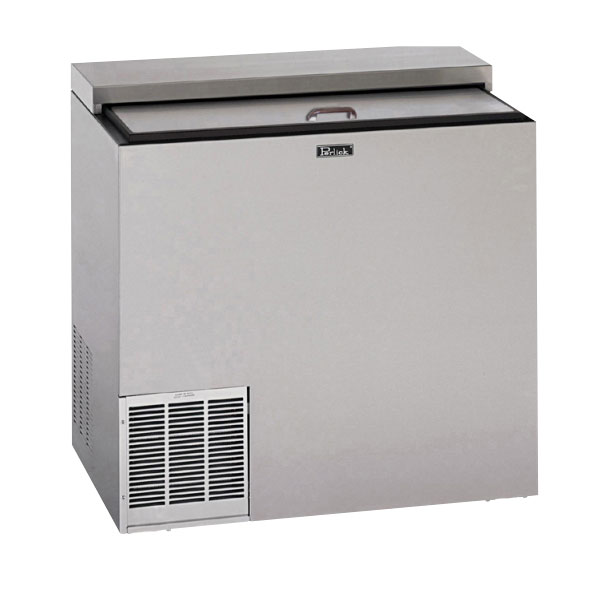 """Perlick BC36 36"""" Forced Air 384-Capacity Bottle Cooler - Stainless Interior, 115v"""