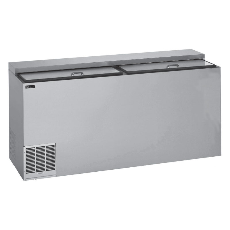 "Perlick BC72 72"" Forced Air 864-Capacity Bottle Cooler - Stainless Interior, 115v"