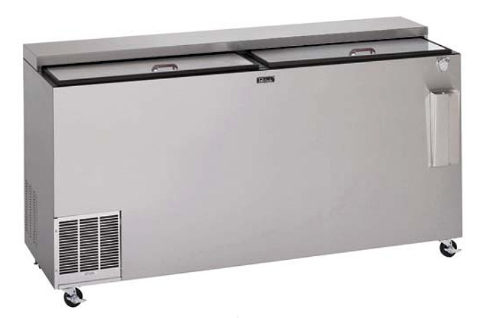 "Perlick BC72LT 72"" Forced Air 864-Capacity Bottle Cooler - Stainless Interior, 115v"