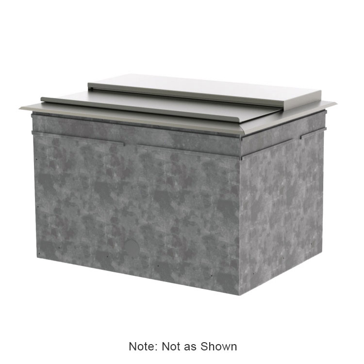 Perlick DI30IC10 30-in Drop-In Ice Chest w/ 65-lb Capacity, 10 Circuit Cold Plate, Covers