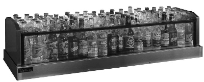 Perlick GMDS19X60 60-in Glass Merchandiser Display w/ 132-Bottl