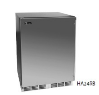 Perlick HA24BB-2LL Built-In Refrigerator w/ Lock & Overlay Door, 4.3-cu ft, ADA