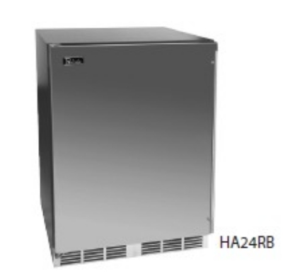 Perlick HA24RB-2L Built-In Refrigerator w/ Overlay Solid Door, 4.3-cu ft,  Hinge Left