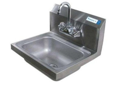 Perlick HS17WM Wall Mount Hand Sink, 17-in Wide, Stainless