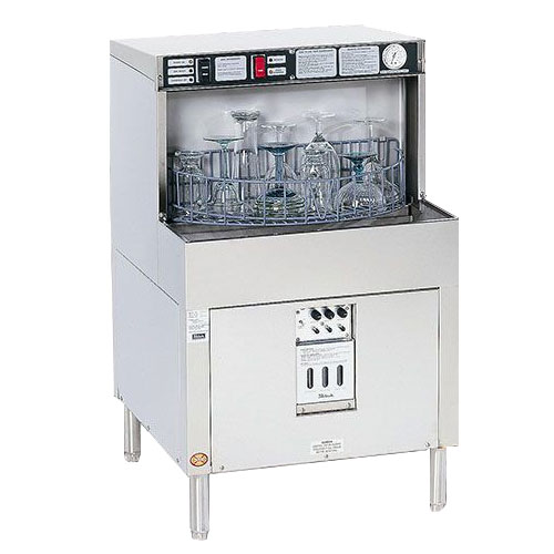 Perlick PKBR24L 24-in Underbar Batch Rotary Glass Washer w/ Left Panel, Stainless