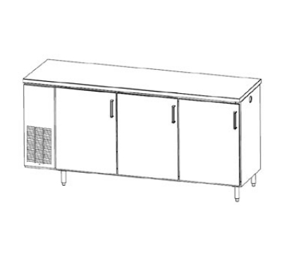 Perlick PTS84 84-in Pass-Thru Backbar Refrigerato