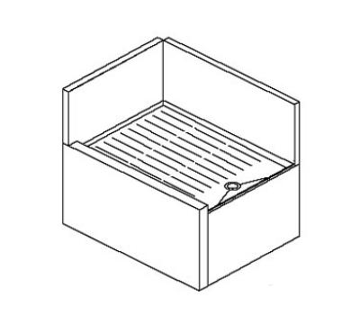 Perlick TS24LIC 24-in Corner Drainboard w/ 90-degree Inside Left Corner, Legs,