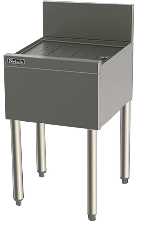 Perlick TS14 14-in Underbar Drainboard w/ Embossed Top, Stainless