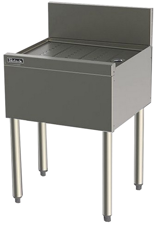Perlick TS18 18-in Underbar Drainboard w/ Embossed Top, Stainless