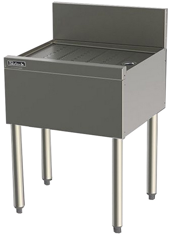 Perlick TS19 19-in Underbar Drainboard w/ Embossed Top, Stainless