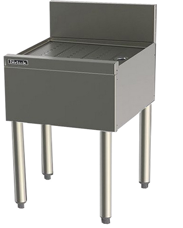 Perlick TS23 23-in Underbar Drainboard w/ Embossed Top, Stainless