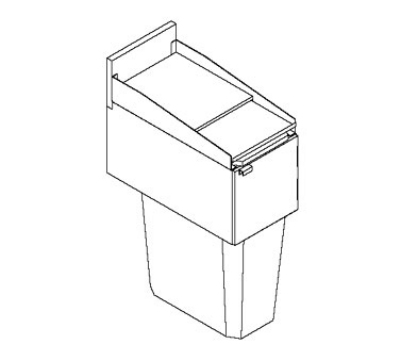 Perlick TS12TRA Trash Receptacle w/ Hinged Drop Lid, 23-gal Capacity, S