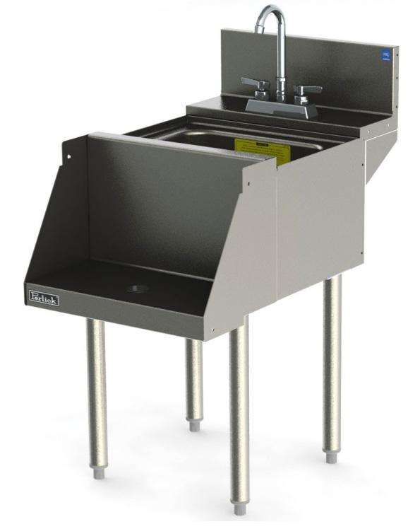 Perlick TSD18BLW 18-in Blender Station w/ Dump Sink, Recessed Shelf, Stainless