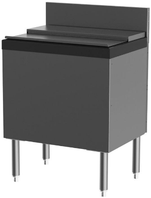 Perlick TSS24IC-EC10 24-in Island Type Ice Chest w/ 10-Circuit Cold Plate, 75-lb