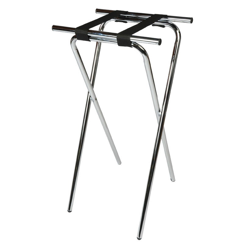 CSL Foodservice & Hospitality 1036 36-in Extra Tall Tray Stand, Black, Chrome Tubular Frame