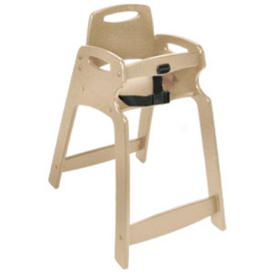 CSL Foodservice & Hospitality 333-SND Lightweight Recycled Plastic High Chair, Assembled, Sand