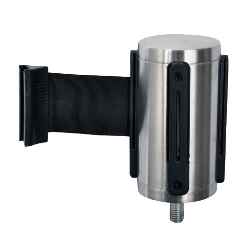 CSL Foodservice & Hospitality 5521-BLK Belt Head w/ 9.5-ft Black Belt, Brushed Stainless