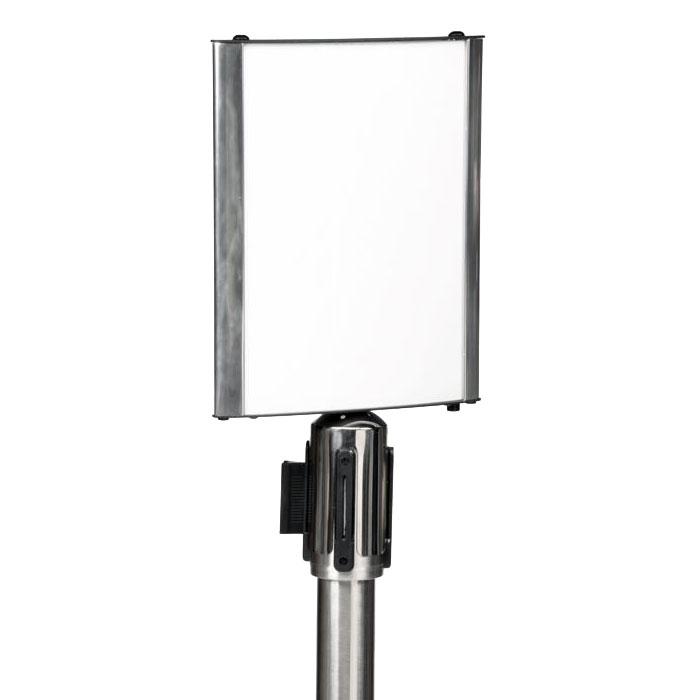 CSL Foodservice & Hospitality 5547 Sign Holder For Crowd Control Stanchion, Aluminum Frame