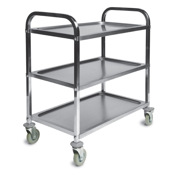 CSL Foodservice & Hospitality 6300 Service Trolley w/ 3-Shelves, Stainless