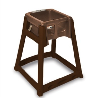 CSL Foodservice & Hospitality 866C-BRN High Chair Infant Seat w/ Dark Brown Seat & Frame, Casters
