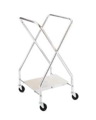CSL Foodservice & Hospitality 1043-25 Laundry Bag Stand w/ Chrome Plated Shelf, 22