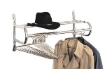 CSL Foodservice & Hospitality 1056-16 16-in Wall Mount Valet w/ Shelf & Hanging Rod, Chrome