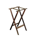 CSL Foodservice & Hospitality 1170 30-in Flat Tray Stand w/ 2-Brown Straps & Rounded Edge, Hardwood