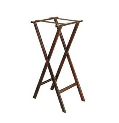 CSL Foodservice & Hospitality 1178BSO-1 Wooden Tray Stand w/ Bottom Brown Strap, Extra Tall
