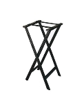 CSL Foodservice & Hospitality 1500BLK-1 Folding Tray Stand w/ Black Straps, Black Plastic