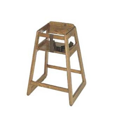 CSL Foodservice & Hospitality 801DK Stackable Deluxe Wooden High Chair, Dark Finish