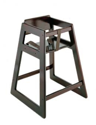 CSL Foodservice & Hospitality 804MH Stackable Deluxe Wooden High Chair, Mahogany