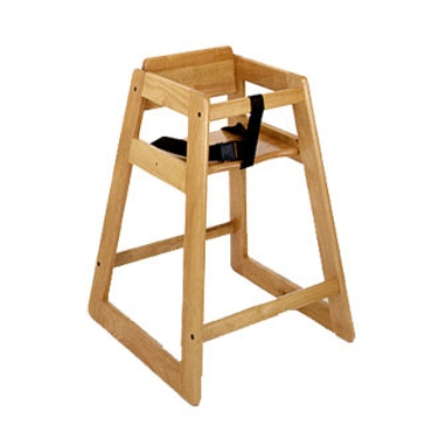 CSL Foodservice & Hospitality 822LT Stackable Economy Wooden High Chair, Light Finish