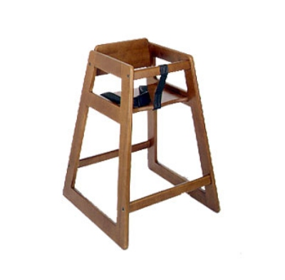 CSL Foodservice & Hospitality 824DK Stackable Economy Wooden High Chair, Dark Finish