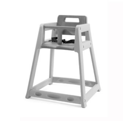 CSL Foodservice & Hospitality 850-DGY-KD Plastic Stackable High Chair, Assembly Required, Gray
