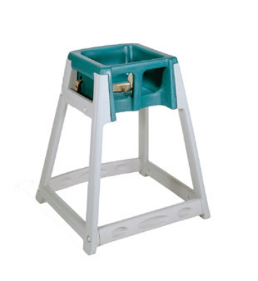 CSL Foodservice & Hospitality 877GRN High Chair Infant Seat w/ Green Seat, Gray Frame