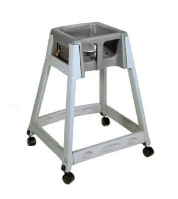 CSL Foodservice & Hospitality 877C-BRN High Chair Infant Seat w/ Brown Seat, Casters, Gray Frame