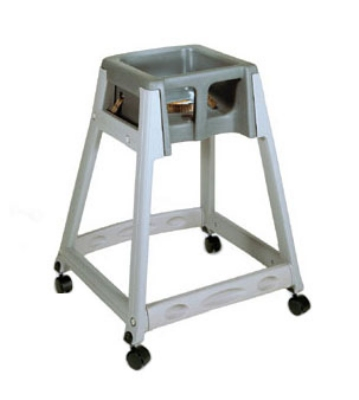 CSL Foodservice & Hospitality 877C-DGY High Chair Infant Seat w/ Dark Gray Seat, Casters, Gray Frame